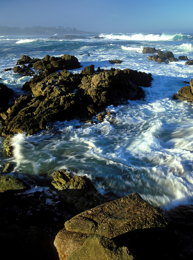 Rocky coast, Pebble Beach California, USA.