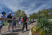 Patrick Reed (USA) departs the 10th tee during round 1 of the World Golf Championships, Dell Match Play, Austin Country Club, Austin, Texas. 3/21/2018.<br /> Picture: Golffile | Ken Murray<br /> <br /> <br /> All photo usage must carry mandatory copyright credit (&copy; Golffile | Ken Murray)