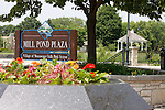 Menomonee Falls Mill Pond Plaza Park and sign