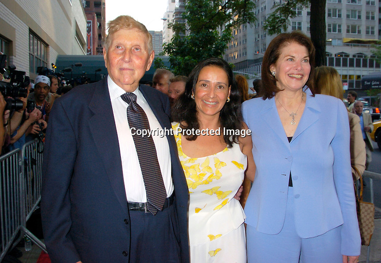 """Sumner Redstone and wife Paula and Sherry Lansing..at the World Premiere of """"The Manchurian Candidate"""" ..on July 19, 2004 at the Clearview Cinema's Beekman ..Theatre. Photo by Robin Platzer, Twin Images"""