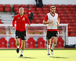 Paul Coutts of Sheffield Utd and Jack O'Connell of Sheffield Utd warm up during the Championship match at the City Ground Stadium, Nottingham. Picture date 30th September 2017. Picture credit should read: Simon Bellis/Sportimage