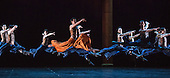 London, UK. 17 August 2016. Shanghai Ballet return to the London Coliseum for five performances of their new production Echoes of Eternity, choreographed by Patrick de Bana and inspired by the ancient Chinese poem Song of Everlasting Sorrow. With WU Husheng as Emperor, QI Bingxue as Lady Yang, ZHAO Hanbing as Moon Fairy. Performances from 17 to 21 August 2016.