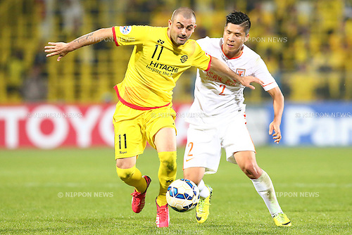 Leandro (Reysol),<br /> MARCH 17, 2015 - Football / Soccer : <br /> AFC Champions League Group E <br /> match between Kashiwa Reysol 2-1 Shandong Luneng FC <br /> at Hitachi Kashiwa Stadium, Chiba, Japan.<br /> (Photo by AFLO SPORT)