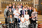 Little Stephen John Healy, Ventry, pictured with his parents Marilyn and Frank, sisters Katie and Abbie, big brother Mikey, family and friends after his christening in St Mary's Church, Dingle by Fr Joseph Begley on Sunday.