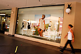 USA, California, San Diego, a window display inside the Westfield Horton Plaza in San Diego