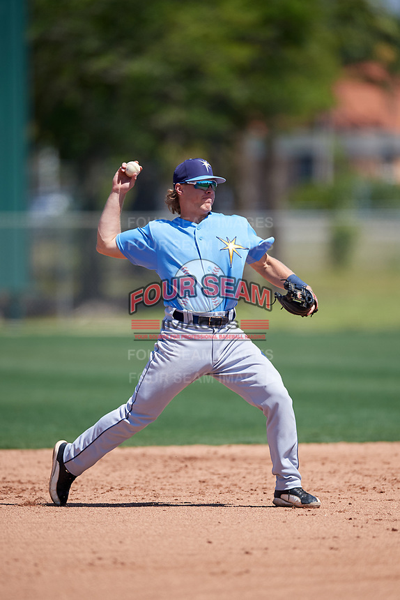 Tampa Bay Rays Taylor Walls (9) during a Minor League Spring Training game against the Minnesota Twins on March 15, 2018 at CenturyLink Sports Complex in Fort Myers, Florida.  (Mike Janes/Four Seam Images)