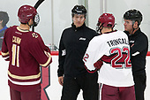 Chris Calnan (BC - 11), Devin Tringale (Harvard - 22) - The Harvard University Crimson defeated the visiting Boston College Eagles 5-2 on Friday, November 18, 2016, at the Bright-Landry Hockey Center in Boston, Massachusetts.