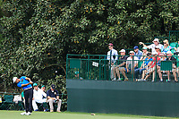 Devon Bling (USA) (AM) on the 16th tee during the 2nd round at the The Masters , Augusta National, Augusta, Georgia, USA. 12/04/2019.<br /> Picture Fran Caffrey / Golffile.ie<br /> <br /> All photo usage must carry mandatory copyright credit (© Golffile | Fran Caffrey)