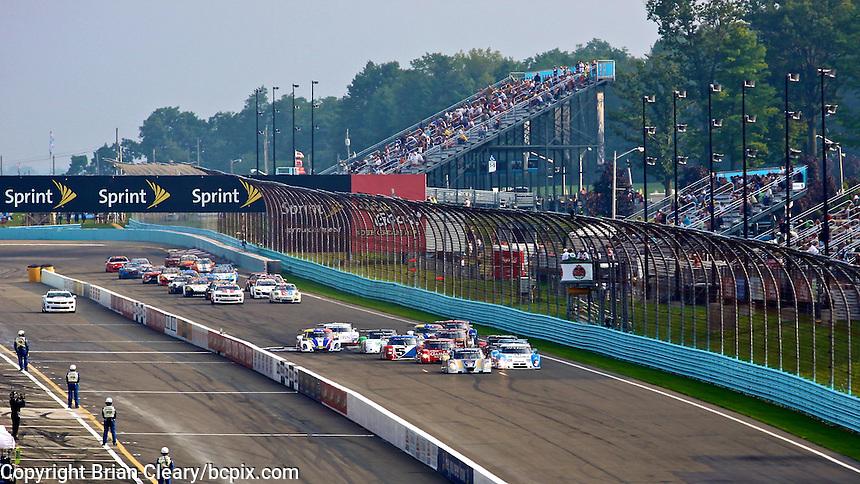 Racing down the frontstretch at Watkins Glen International Raceway, Watkins Glen, NY. (Photo by David Cleary/www.bcpix.com)