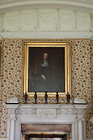A portrait of one of the earlier Earls of Killruddery hangs above the Micali chimneypiece in the dining room