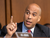 "United States Senator Cory Booker (Democrat of New Jersey) joins in the debate about the release of documents designated ""committee confidential"" prior to the US Senate Judiciary Committee beginning the third day of testimony from Judge Brett Kavanaugh on his nomination as Associate Justice of the US Supreme Court to replace the retiring Justice Anthony Kennedy on Capitol Hill in Washington, DC on Thursday, September 6, 2018.<br /> Credit: Ron Sachs / CNP<br /> (RESTRICTION: NO New York or New Jersey Newspapers or newspapers within a 75 mile radius of New York City)"