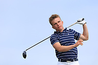 Robert Moran (Castle) on the 10th tee during Round 4 of The East of Ireland Amateur Open Championship in Co. Louth Golf Club, Baltray on Monday 3rd June 2019.<br /> <br /> Picture:  Thos Caffrey / www.golffile.ie<br /> <br /> All photos usage must carry mandatory copyright credit (© Golffile | Thos Caffrey)
