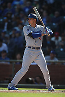SAN FRANCISCO, CA - SEPTEMBER 28:  Corey Seager #5 of the Los Angeles Dodgers bats against the San Francisco Giants during the game at Oracle Park on Saturday, September 28, 2019 in San Francisco, California. (Photo by Brad Mangin)