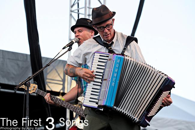 Matt Hensley of Flogging Molly performs during day 2 of the 2011 Kanrocksas Music Festival at Kansas Speedway in Kansas City, Kansas on August 6, 2011.
