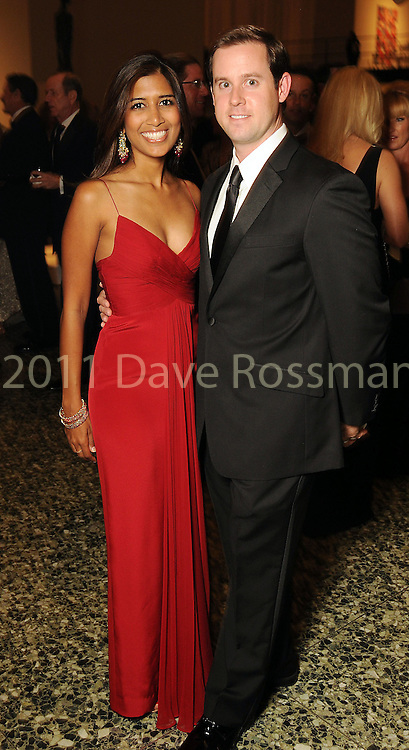 Divya and Chris Brown at the Museum of Fine Arts Houston 's 2010 Grand Gala Ball  Friday Oct. 01, 2010. (Dave Rossman/For the Chronicle)