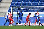 Jubel ueber das 0:1: Torschuetze Ihlas Bebou (Hoffenheim) in der Mitte.<br /> <br /> Sport: Fussball: 1. Bundesliga: Saison 19/20: 33. Spieltag: TSG 1899 Hoffenheim - 1. FC Union Berlin, 20.06.2020<br /> <br /> Foto: Markus Gilliar/GES/POOL/PIX-Sportfotos<br /> <br /> Foto © PIX-Sportfotos *** Foto ist honorarpflichtig! *** Auf Anfrage in hoeherer Qualitaet/Aufloesung. Belegexemplar erbeten. Veroeffentlichung ausschliesslich fuer journalistisch-publizistische Zwecke. For editorial use only. DFL regulations prohibit any use of photographs as image sequences and/or quasi-video.
