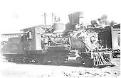 3/4 engineer's-side view of C&amp;S #5 at Denver roundhouse.<br /> C&amp;S  Denver, CO  Taken by Payne, Andy M. - 4/10/1937