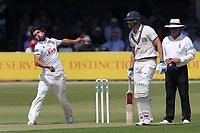 Mohammad Amir of Essex in bowling action during Essex CCC vs Middlesex CCC, Specsavers County Championship Division 1 Cricket at The Cloudfm County Ground on 26th June 2017