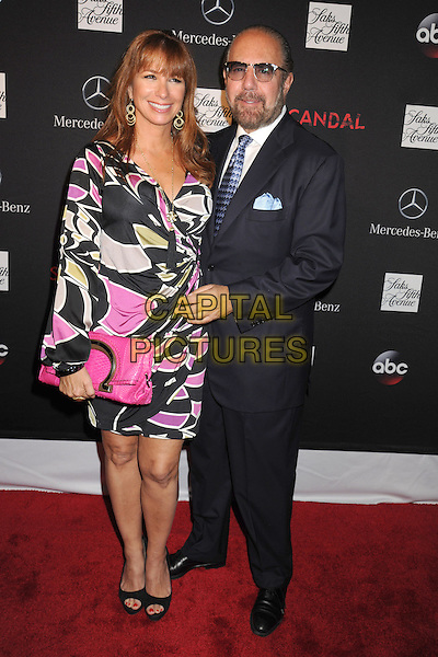 Jill Zarin, Bobby Zarin<br /> At the Saks Fifth Avenue and ABC along with Mercedes-Benz celebration for the return of &quot;Scandal&quot; with a premiere party at Saks Fifth Avenue's New York Flagship Store in New York City, NY., USA.<br /> October 2nd, 2013 <br /> full length black suit pink dress pattern clutch bag<br /> CAP/MPI/mpi63<br /> &copy;mpi63/MediaPunch/Capital Pictures