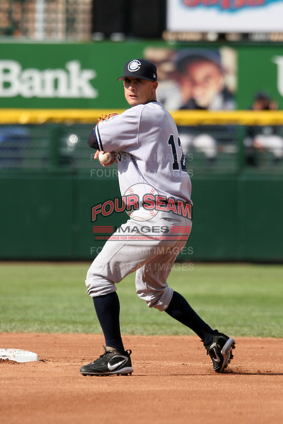 Columbus Clippers Danny Garcia during an International League game at Frontier Field on June 4, 2006 in Rochester, New York.  (Mike Janes/Four Seam Images)