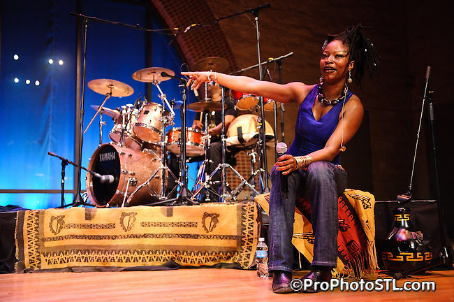 Dobet Gnahore performing at E. Desmond and Mary Ann Lee Theater of the Touhill Performing Arts Center in St. Louis, MO on May 6, 2009.
