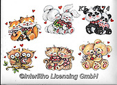 Interlitho-Theresa, VALENTINE, VALENTIN, paintings+++++,animals,KL4574,#v#, EVERYDAY ,sticker,stickers ,bear,bears