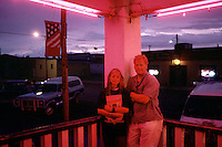 With Nikki Balestino on the porch of the Historic Kempton Hotel in Terry, Montana in 2002. I had met Nikki at an art fair in State College, Pennsylvania a few weeks earlier and convinced her to accompany me to Montana where I had received a grant from the Montana Historical Society to document the life of my legendary cowgirl grand aunt-in-law, Bobby Brooks Kramer.