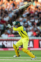 Australia's Ashton Agar loses grip on his bat<br /> <br /> Photographer Andrew Kearns/CameraSport<br /> <br /> Only IT20 - Vitality IT20 Series - England v Australia - Wednesday 27th June 2018 - Edgbaston - Birmingham<br /> <br /> World Copyright &copy; 2018 CameraSport. All rights reserved. 43 Linden Ave. Countesthorpe. Leicester. England. LE8 5PG - Tel: +44 (0) 116 277 4147 - admin@camerasport.com - www.camerasport.com