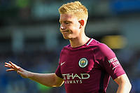 Kevin De Bruyne of Manchester City (17)  during the EPL - Premier League match between Brighton and Hove Albion and Manchester City at the American Express Community Stadium, Brighton and Hove, England on 12 August 2017. Photo by Edward Thomas / PRiME Media Images.