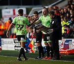 Dominic Calvert-Lewin of Sheffield Utd replaced by Conor Sammon of Sheffield Utd - English League One - Fleetwood Town vs Sheffield Utd - Highbury Stadium - Fleetwood - England - 5rd March 2016 - Picture Simon Bellis/Sportimage