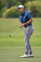 Lloyd Jefferson GO (PHI) watches his putt on 7 during Rd 4 of the Asia-Pacific Amateur Championship, Sentosa Golf Club, Singapore. 10/7/2018.<br /> Picture: Golffile | Ken Murray<br /> <br /> <br /> All photo usage must carry mandatory copyright credit (© Golffile | Ken Murray)