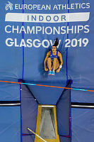 190302 Sonia Malavisi of Italy competes in the women s pole vault qualification during the European Athletics Indoor Championships on March 2, 2019 in Glasgow. Photo: Vegard Wivestad Grott / BILDBYRAN / kod VG / 170303 *** 190302 Sonia Malavisi of Italy competes in the women s pole vault qualification during the European Athletics Indoor Championships on March 2 2019 in Glasgow Photo Vegard Wivestad Grott BILDBYRAN kod VG 170303, PUBLICATIONxNOTxINxDENxNORxSWExFINxAUT Copyright: VEGARDxWIVESTADxGRoTT BB190302ZE023  <br /> Foto Imago/Insidefoto