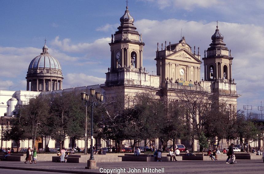 The Catedral Metropolitana or Metropolitan Cathedral in Guatemala City, Guatemala.