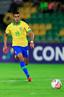 ARMENIA, COLOMBIA - JANUARY 19: Brazil's Reinier runs for the ball during his CONMEBOL Pre-Olympic soccer game against Peru at Centenario Stadium on January 19, 2020 in Armenia, Colombia. (Photo by Daniel Munoz/VIEW press/Getty Images)
