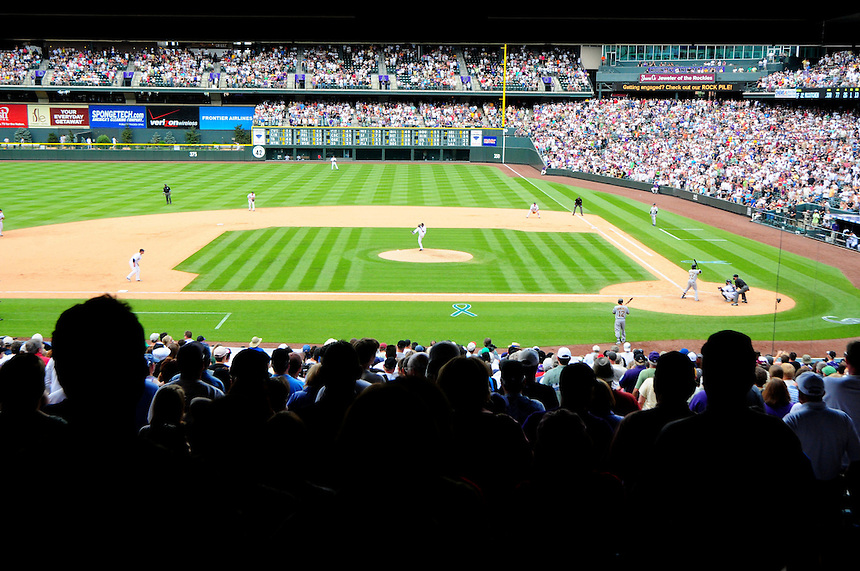 June 21, 2009: Announced attendance of 44,131 fill Coors Field during a game between the Pittsburgh Pirates and the Colorado Rockies at Coors Field in Denver, Colorado. The Rockies beat the Pirates 5-4, to improve to 16-1 in the last 17 games.