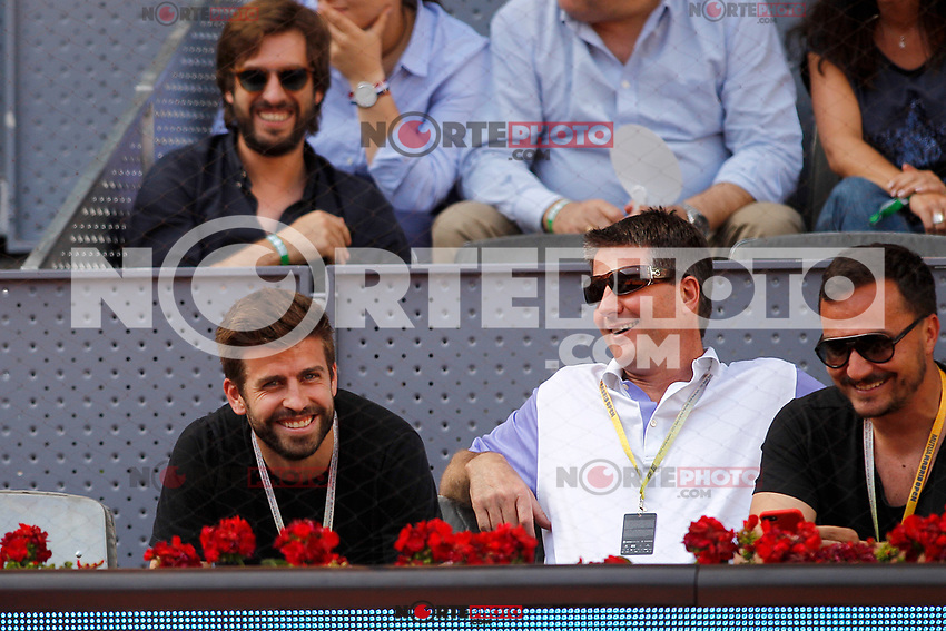 FC Barcelona's football player Gerard Pique during Madrid Open Tennis 2017 match. May 8, 2017.(ALTERPHOTOS/Acero) /NortePhoto.com