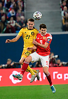Timothy Castagne defender of Belgium, Daler Kuzyaev forward of Russia  <br /> Saint Petersbourg  - Qualification Euro 2020 - 16/11/2019 <br /> Russia - Belgium <br /> Foto Photonews/Panoramic/Insidefoto <br /> ITALY ONLY