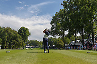 Adrian Otaegui (ESP) watches his tee shot on 16 during 1st round of the 100th PGA Championship at Bellerive Country Club, St. Louis, Missouri. 8/9/2018.<br /> Picture: Golffile | Ken Murray<br /> <br /> All photo usage must carry mandatory copyright credit (© Golffile | Ken Murray)