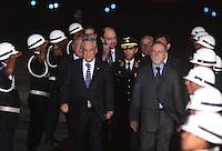LIMA,PER&Uacute;-18/04/2013. Arribo del Presidente de Chile, Sebastian Pi&ntilde;era, para la reuni&oacute;n UNASUR en Palacio de Gobierno. <br /> &copy;ANDINA/OscarFarje/NortePhoto