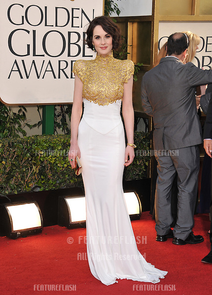 MIchelle Dockery at the 70th Golden Globe Awards at the Beverly Hilton Hotel..January 13, 2013  Beverly Hills, CA.Picture: Paul Smith / Featureflash