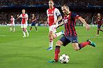 UEFA Champions League 2013/2014.<br /> FC Barcelona vs AFC Ajax: 4-0 - Game: 1.<br /> Siem De Jong vs Andres Iniesta.
