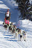 Wade Marrs on Long Lake at the Re-Start of the 2012 Iditarod Sled Dog Race