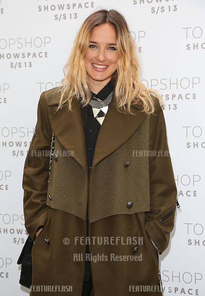 Jess Mills arriving at the Unique catwalk show as part of London Fashion Week SS13, Top Shop Venue, Bedford Square, London. 16/09/2012 Picture by: Henry Harris / Featureflash
