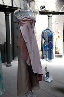 Giorgio Armani<br /> Roma 03-04-2016 Terme di Diocleziano. Mostra 'In Acqua: H2O molecole di creativita'. Decine di stilisti hanno creato, per l'occasione, abiti, accessori e gioielli che richiamano l'acqua.<br /> Diocleziano Thermae. Exhibition 'In water: H2O molecules of creativity'.Tens of famous stylists created dresses, accessories and jewels that recall water.<br /> Photo Samantha Zucchi Insidefoto