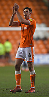 Blackpool's Ben Heneghan applauds the fans after the game<br /> <br /> Photographer Dave Howarth/CameraSport<br /> <br /> The EFL Sky Bet League One - Blackpool v Doncaster Rovers - Tuesday 12th March 2019 - Bloomfield Road - Blackpool<br /> <br /> World Copyright © 2019 CameraSport. All rights reserved. 43 Linden Ave. Countesthorpe. Leicester. England. LE8 5PG - Tel: +44 (0) 116 277 4147 - admin@camerasport.com - www.camerasport.com