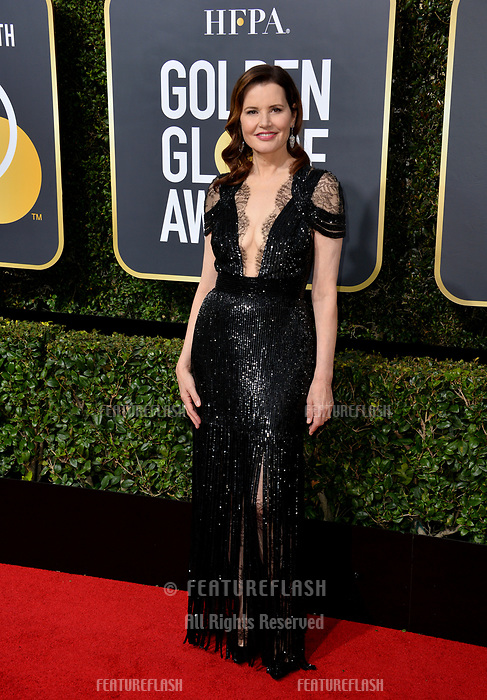 Geena Davis at the 75th Annual Golden Globe Awards at the Beverly Hilton Hotel, Beverly Hills, USA 07 Jan. 2018<br /> Picture: Paul Smith/Featureflash/SilverHub 0208 004 5359 sales@silverhubmedia.com