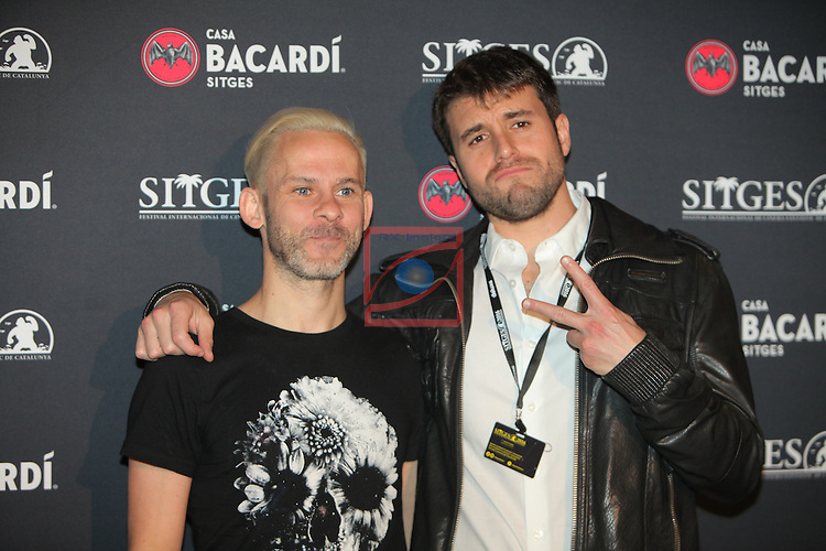 Premi Bacardi Sitges a l'Esperit Indomable 2016.<br /> Dominic Monaghan &amp; Carles Torrens.