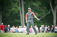 Rory McIIroy reacts to his approach into the 10th green during the opening round of the PGA Championship at Valhalla (Photo: Anthony Powter) Picture: Anthony Powter / www.golffile.ie