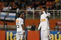 ATENÇÃO EDITOR: FOTO EMBARGADA PARA VEÍCULOS INTERNACIONAIS SÃO PAULO,SP,22 SETEMBRO  2012 - CAMPEONATO BRASILEIRO - SANTOS x PORTUGUESA - André (d)  jogador do Santos  durante partida Santos x Portuguesa  válido pela 26º rodada do Campeonato Brasileiro no Estádio Paulo Machado de Carvalho (Pacaembu), na noite deste sabado (22). (FOTO: ALE VIANNA -BRAZIL PHOTO PRESS)