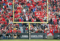 Ohio State fans spell out O-H-I-O during the second half of the NCAA football game at Ross-Ade Stadium in West Lafayette, Ind. on Nov. 2, 2013. (Adam Cairns / The Columbus Dispatch)